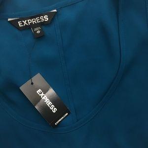 Express Tops - Express Size XS Chiffon Back Slit Tank Top